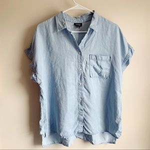 A.N.A Light Wash Chambray Button Up Blouse